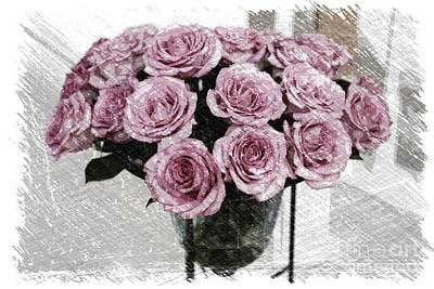 Roses Photograph - Romantic Mauve Roses - Digital Art by Carol Groenen