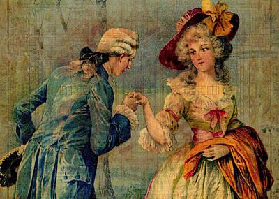 Romantic Meeting Art Print