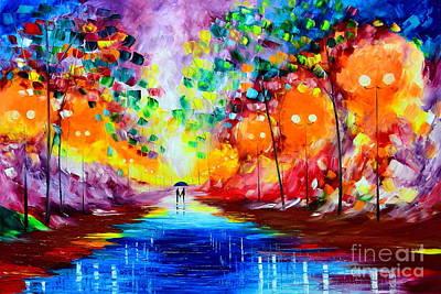 Painting - Romantic Night by Mariana Stauffer