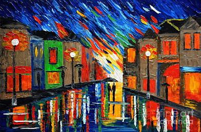 Romantic Rain Art Print