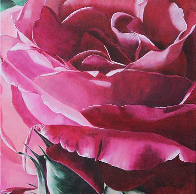 Romantic Rose Original by Patricia Pasbrig