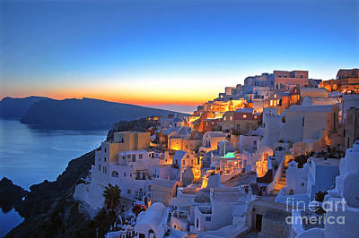 Dubai Photograph - Romantic Santorini by Lars Ruecker