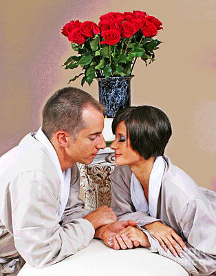Photograph - Romantic Spa Thoughts by Larry Oskin