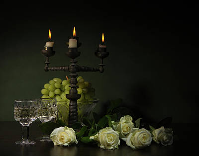 Candles Wall Art - Photograph - Romantic Still-life by Magnola