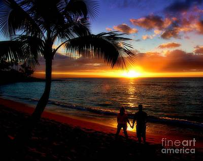 Photograph - Romantic Sunset Hawaii by Patrick Witz