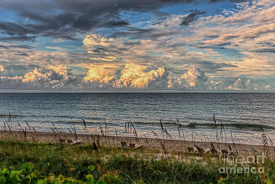 Photograph - Romantic Sunset On The Ocean  by Olga Hamilton