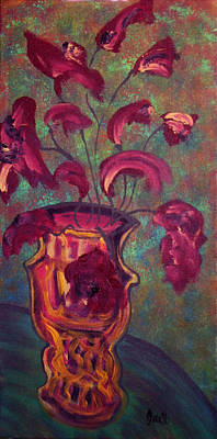 Painting - Romantic Vase  by Oscar Penalber