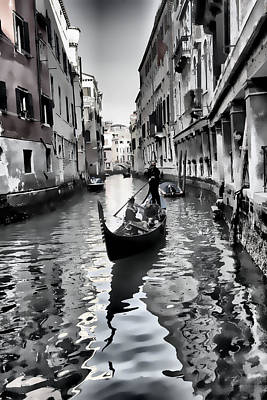 Photograph - Romantic Venice Italy by Indiana Zuckerman