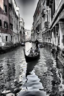 Photograph - Romantic Venice Italy by Indiana Zuckerman