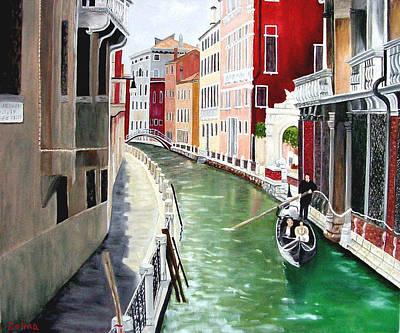 Romantic Venice Art Print by Zelma Hensel