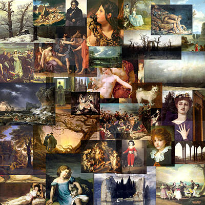 Timeline Mixed Media - Romanticism 1770 To1870 by Anders Hingel