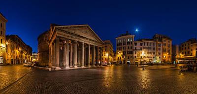 Rome - Pantheon Panorama Art Print