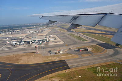 Rome Airport From An Aircraft Art Print by Sami Sarkis