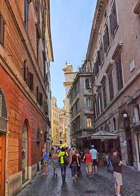 Photograph - Rome Alleyway 2 by Herb Paynter
