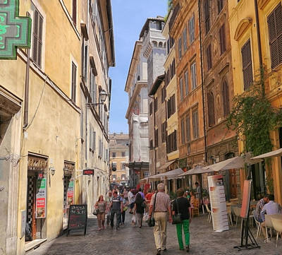 Photograph - Rome Alleyway 3 by Herb Paynter