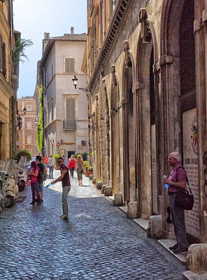 Photograph - Rome Alleyway 4 by Herb Paynter