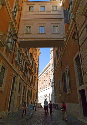 Photograph - Rome Alleyway 5 by Herb Paynter