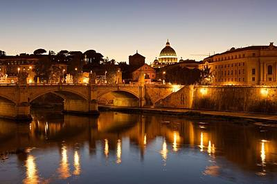 Photograph - Rome At Dusk by Stephen Taylor