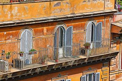 Photograph - Rome Balcony by Bill Howard