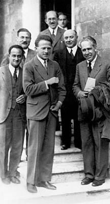 Group Portraits Photograph - Rome Conference On Nuclear Physics by Emilio Segre Visual Archives/american Institute Of Physics
