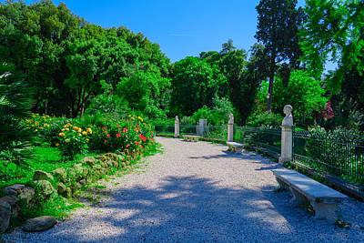 Step Stool Photograph - Rome Gardens by Mair Hunt