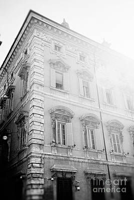 Black And White Photograph - Rome In Black And White by Erin Johnson