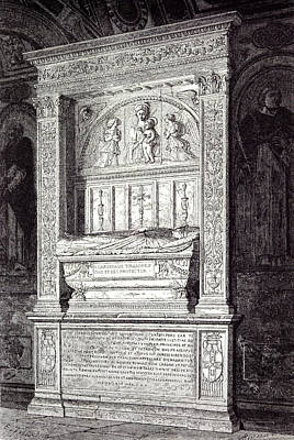 Rome Italy 1875 Tomb Of Cardinal Ferrici At The Minerva Art Print