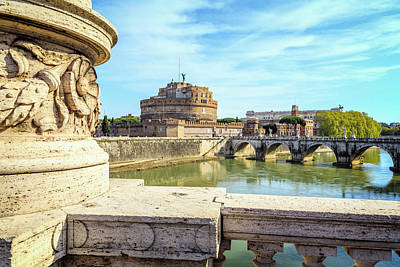 Castel Santangelo Wall Art - Photograph - Rome, Italy. Castel Santangelo by Panoramic Images