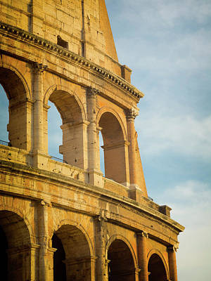 Rome, Italy. Exterior Of The Colosseum Art Print