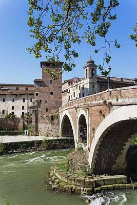 Tiber Island Wall Art - Photograph - Rome, Italy.  Isola Tiberina. Tiber by Ken Welsh