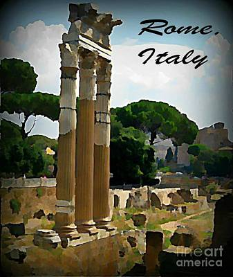 Halifax Art Work Painting - Rome Italy Poster by John Malone