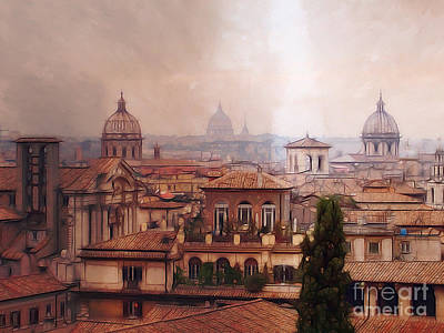 Photograph - Rome Panorama by Lutz Baar