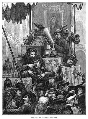 Rome Quack Doctor, 1872 Art Print by Granger