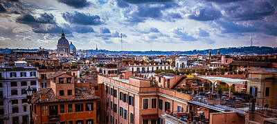 Photograph - Rome Skyline by Matthew Onheiber