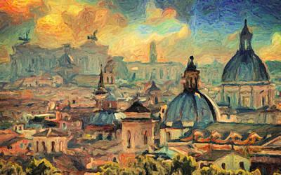 Impressionism Paintings - Rome by Zapista Zapista