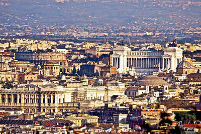 Photograph - Rome With A View by Walt  Baker