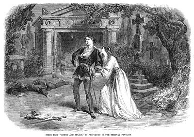 Romeo And Juliet, 1864 Art Print by Granger