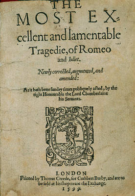 Cuthbert Photograph - Romeo And Juliet by British Library