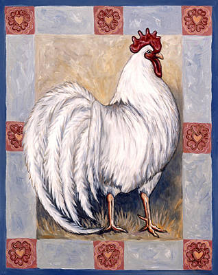 Pet Painting - Romeo The Rooster by Linda Mears