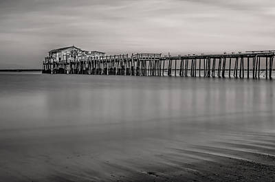 Photograph - Romeo's Pier Bw by Linda Villers