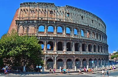 Photograph - Rome's Colosseum by Jack Moskovita