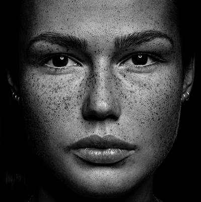 Blackandwhite Photograph - Romi by