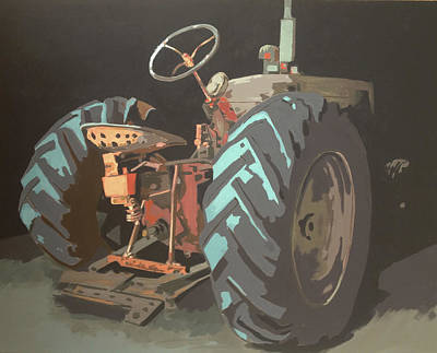 Old Barns Painting - Romine Tractor by Jeffrey Bess