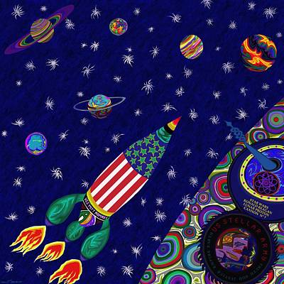 Painting - Romney Rocket - Destination Mars 2023 by Robert SORENSEN