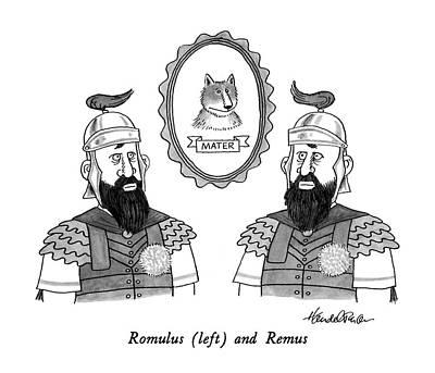 Character Portraits Drawing - Romulus by J.B. Handelsman