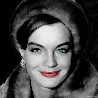 Digital Art - Romy Schneider Large Size Portrait by Gabriel T Toro