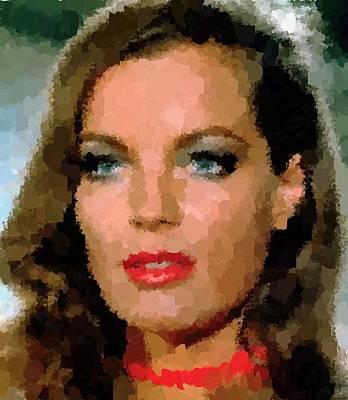Painting - Romy Schneider Portrait by Samuel Majcen