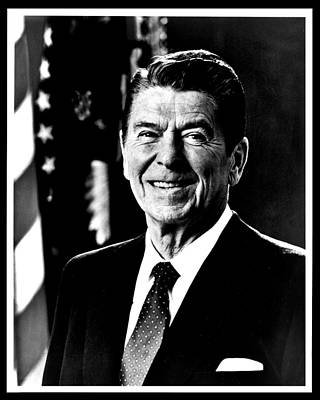 Politicians Royalty-Free and Rights-Managed Images - Ronald Reagan by Benjamin Yeager