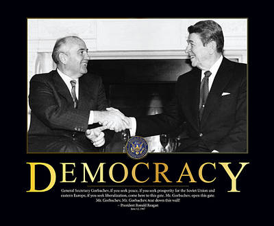 Ronald Reagan Democracy  Art Print