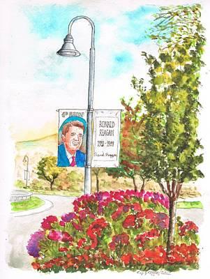 Ronald Reagan Library Gardens - Semi Valley - California Original